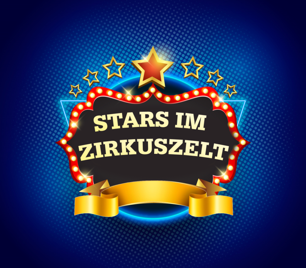 Logo Stars im Zirkuszelt